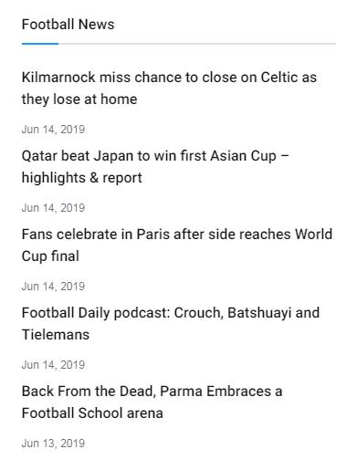 news sidebar block 2