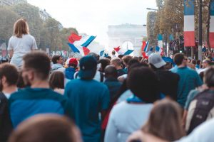 Fans celebrate in Paris