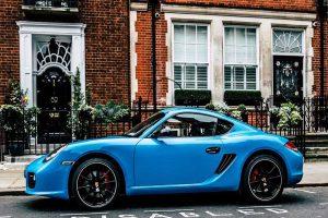blue cars